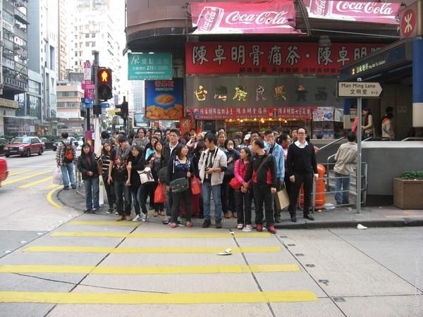 Дороги в Гонконге не асфальтовые, а бетонные